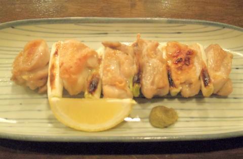 神奈川県川崎市中原区木月1丁目にある割烹、小料理の「和食 蓬や」 鶏ねぎま焼き(塩)