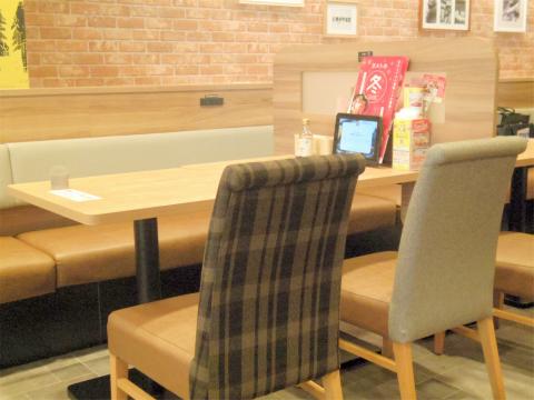 東京都江戸川区瑞江2丁目にあるファミリーレストラン「ガスト gusto 瑞江駅前店」店内