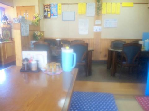 埼玉県越谷市野島にあるとんかつ、定食、食堂の「末広屋」店内