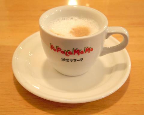 東京都江戸川区瑞江2丁目にあるイタリアンのお店「ポポラマーマ 瑞江店」ホットコーヒー