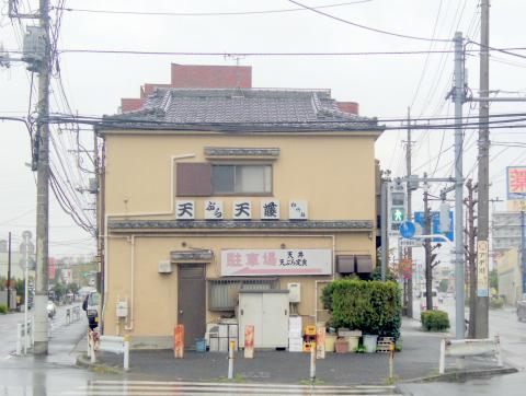 東京都足立区鹿浜7丁目にある天ぷら「天藤」外観