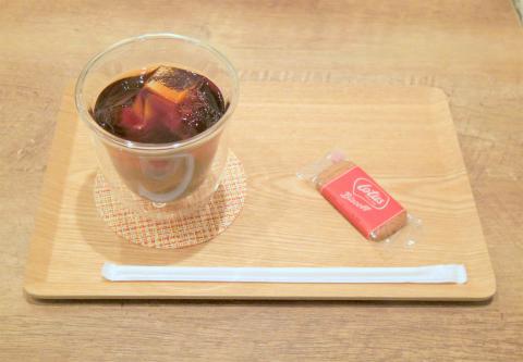 神奈川県横浜市西区戸部本町にあるカフェ「TINY CAFE」アイスコーヒー