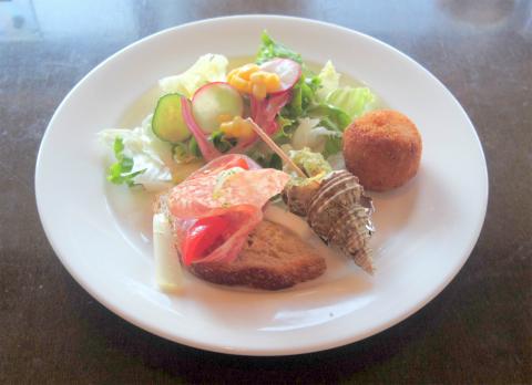 茨城県笠間市笠間にあるイタリアン、フレンチのお店「Cerchio 欧風料理 チェルキオ」ミラノコースの前菜