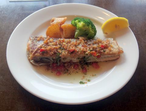 茨城県笠間市笠間にあるイタリアン、フレンチのお店「Cerchio 欧風料理 チェルキオ」ミラノコースの魚料理(太刀魚のムニエル)