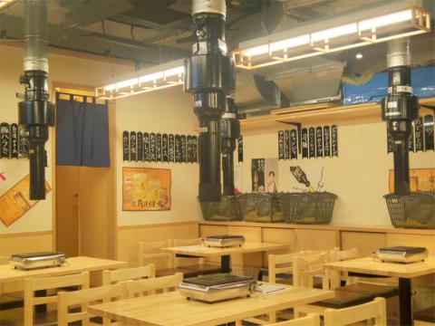 東京都練馬区豊玉北5丁目にある「大衆焼肉ホルモン もつりき 練馬店」店内