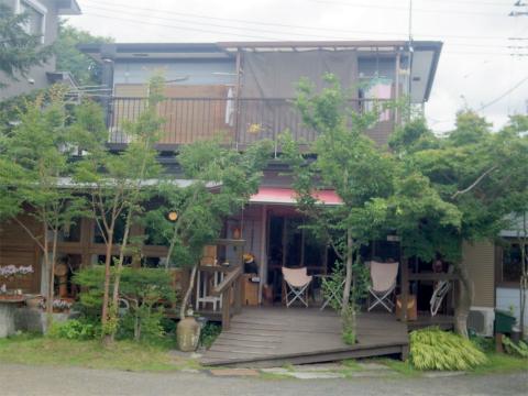 茨城県笠間市大田町にある「Cafe JR.Bonner カフェ ジュニアボナー」外観