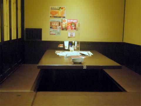 茨城県笠間市東平2丁目にある居酒屋「魚民 友部南口駅前店」店内