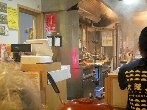 東京都台東区上野5丁目にある中華料理の「大阪王将 御徒町駅前店」店内