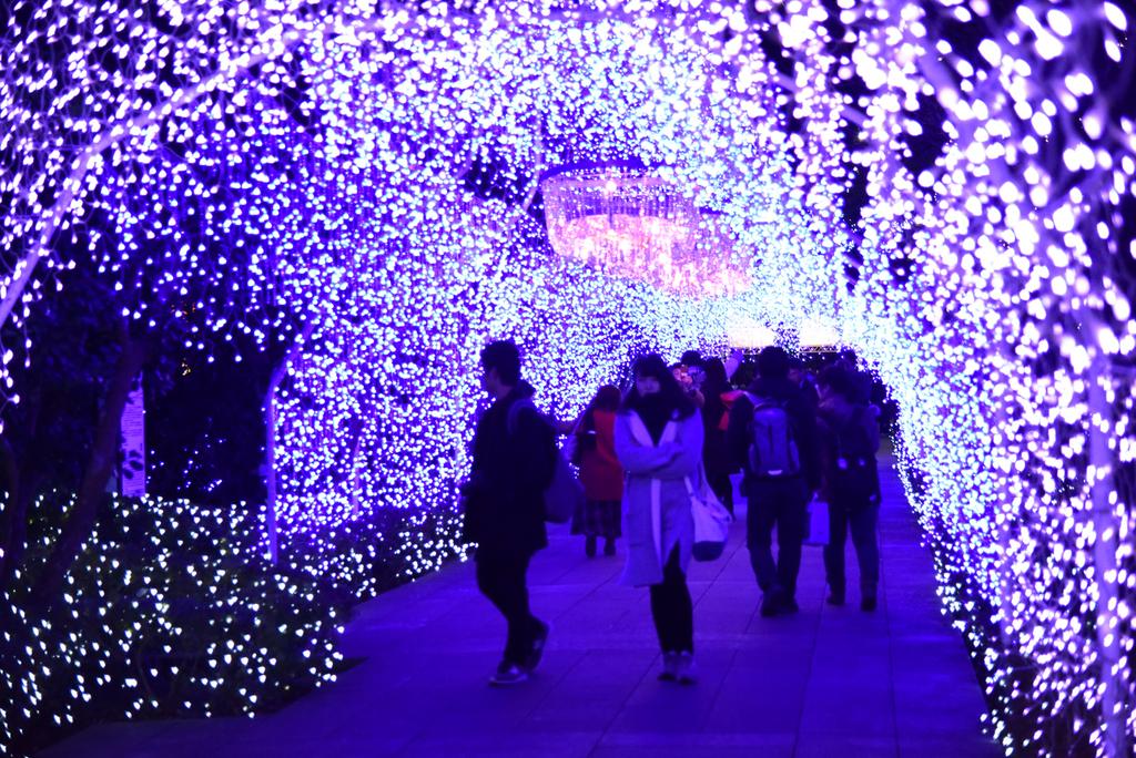 江の島のライトアップイベント『湘南の宝石』で見られる光のトンネル【湘南シャンデリア】