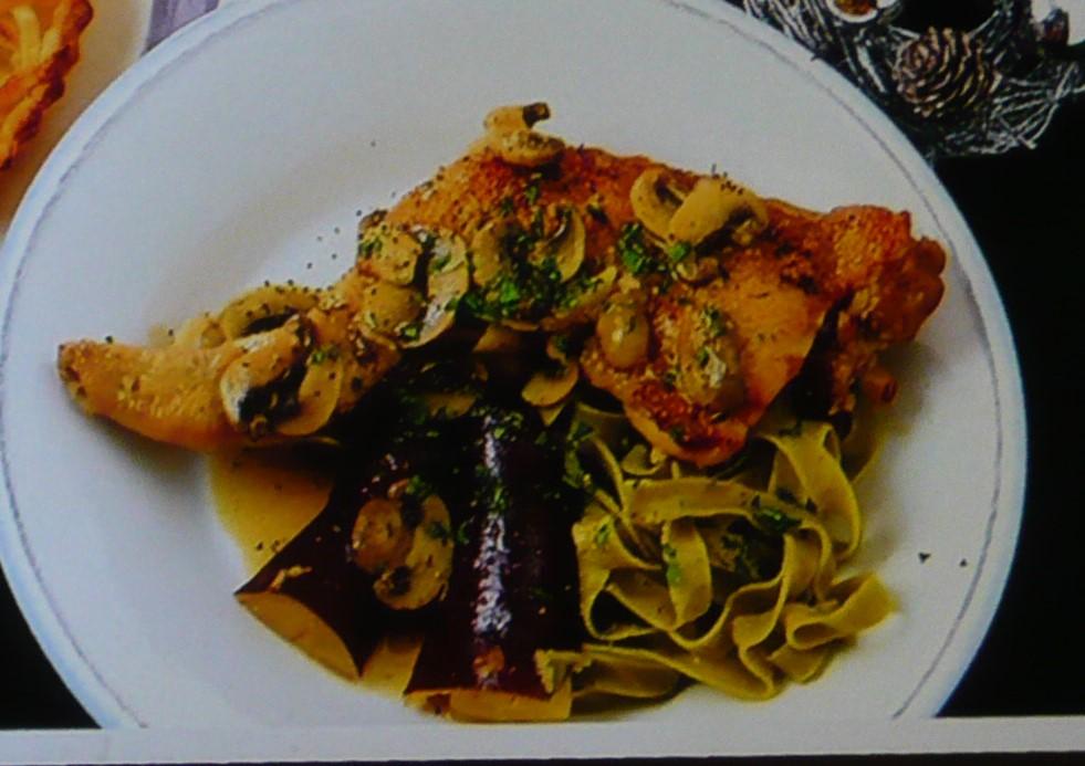 骨つき鶏もも肉の白ワインハーブ煮