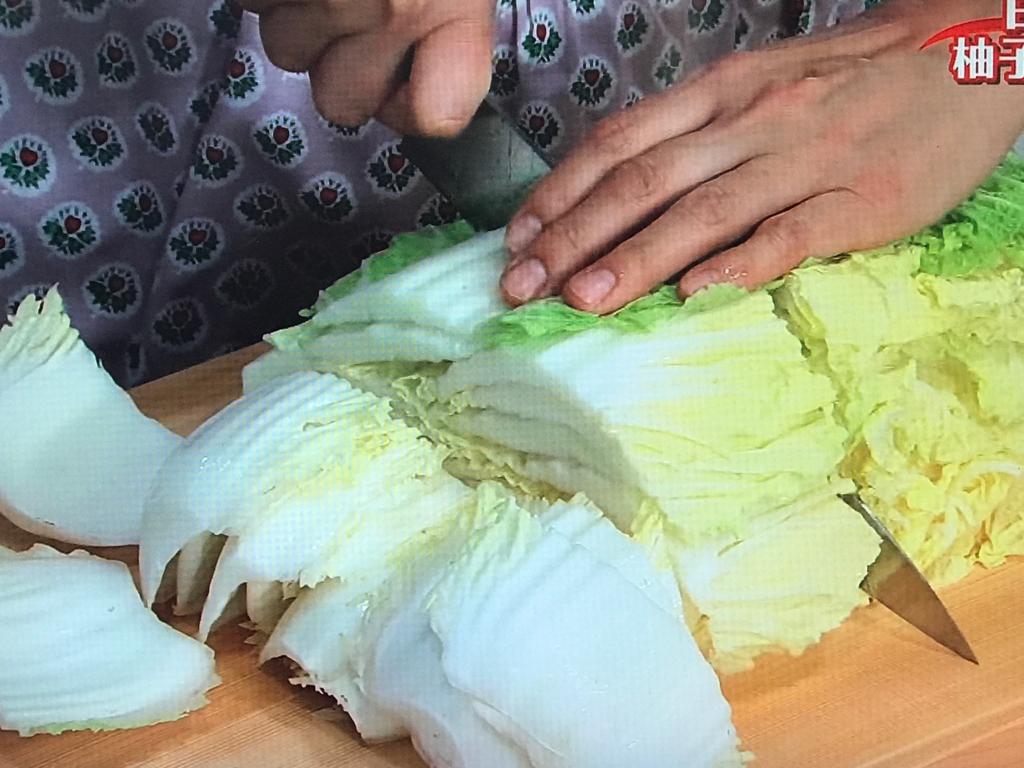 白菜は4~5cm長さに切る