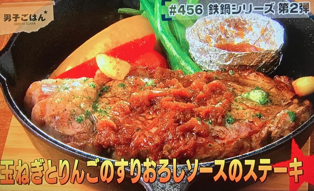 玉ねぎとりんごのすりおろしソースのステーキ
