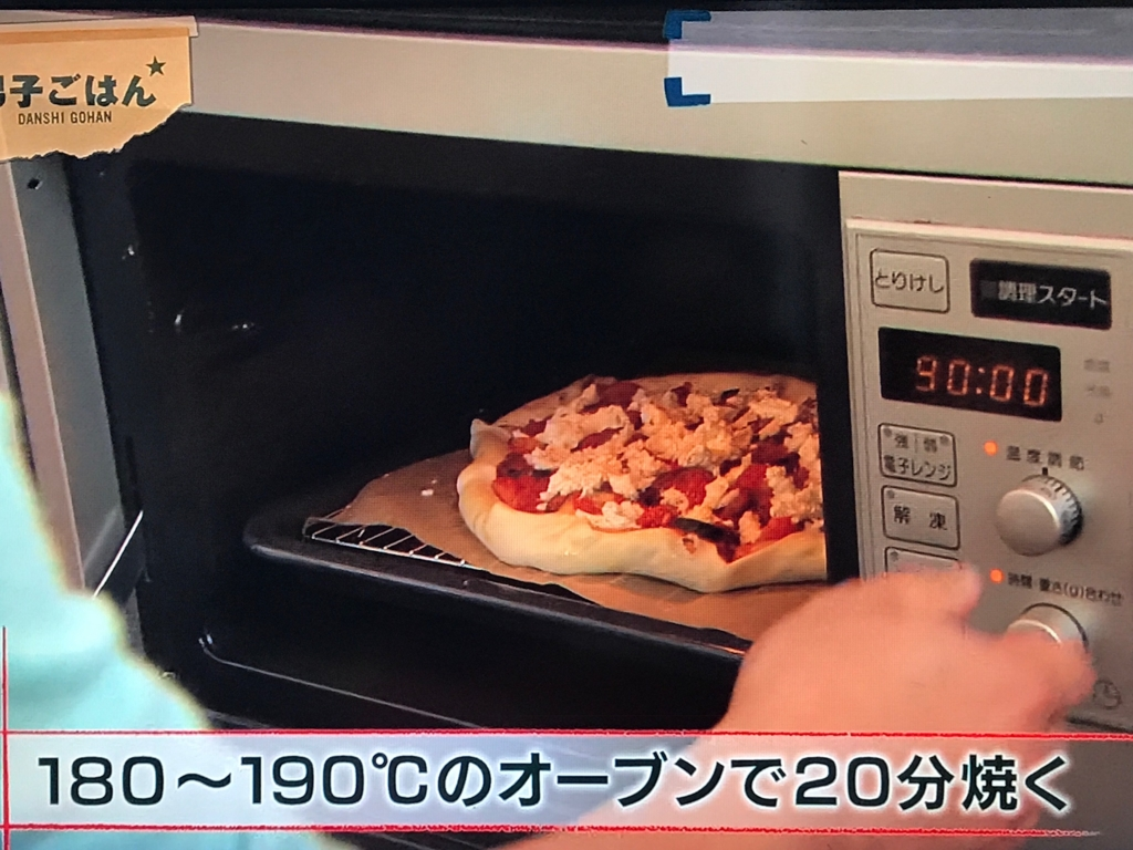180~190℃のオーブンで20分焼く