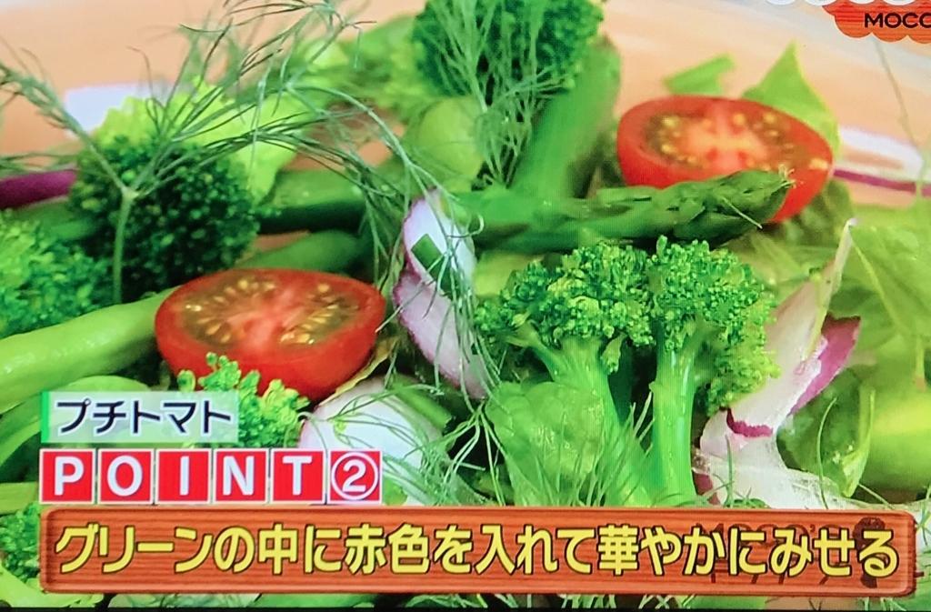 半分に切ったプチトマトを①の上に盛りつける