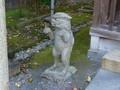 長崎市・祓戸神社の狛犬(左)