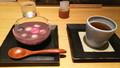 サントリー美術館ミュージアムカフェ・不室屋の麩の冷汁粉+加賀棒茶