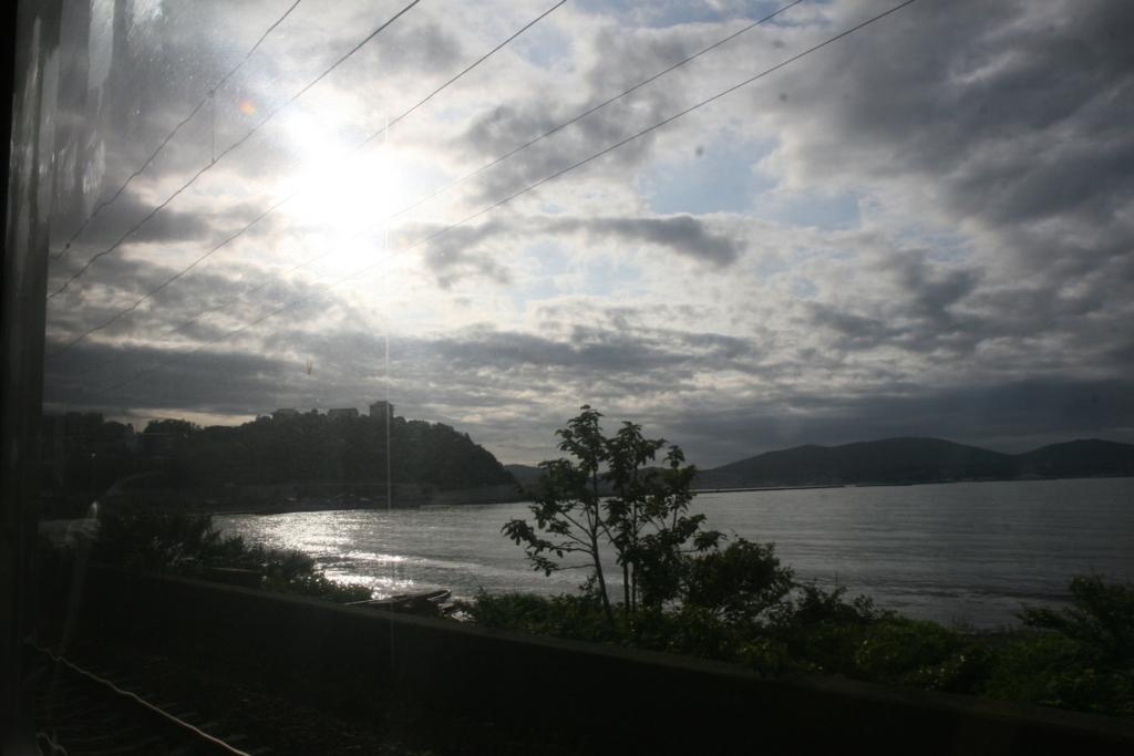 札幌、小樽間の函館本線の車窓からの景色