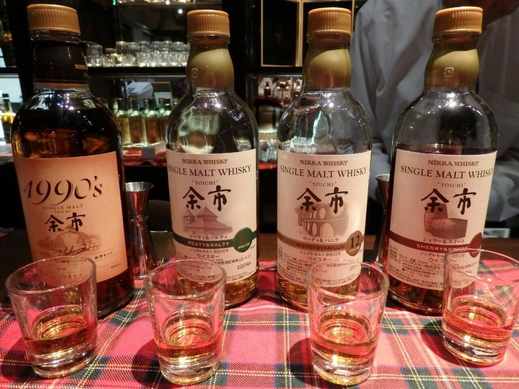 ニッカウヰスキー北海道工場・余市蒸溜所のウイスキー博物館内の有料試飲バー