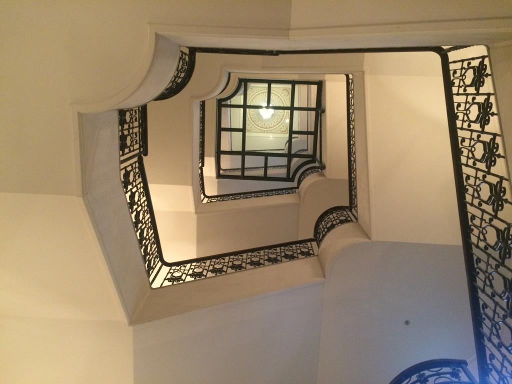 ホテルモントレ仙台の螺旋階段