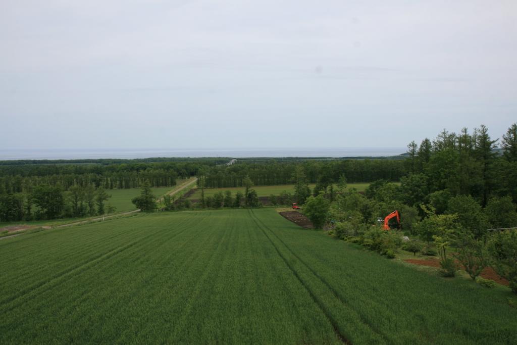 北海道・知床の天へと続く道の展望台からの景色