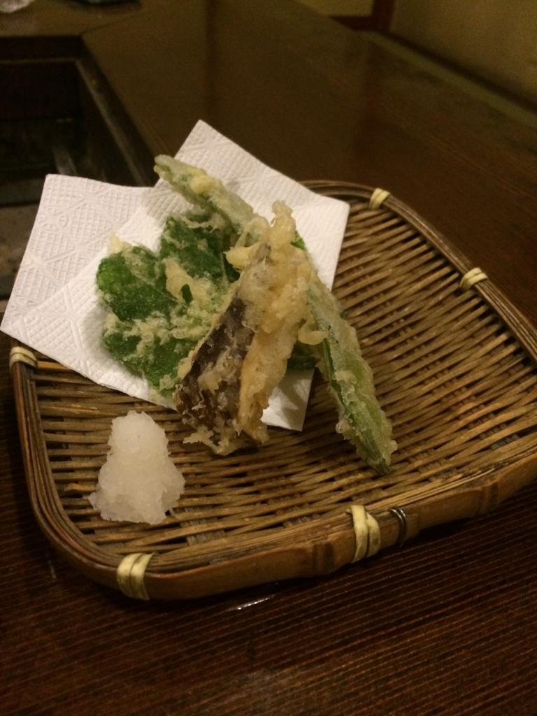 長野県・乗鞍高原の「双色の源泉 山水館信濃」の松茸の天ぷら