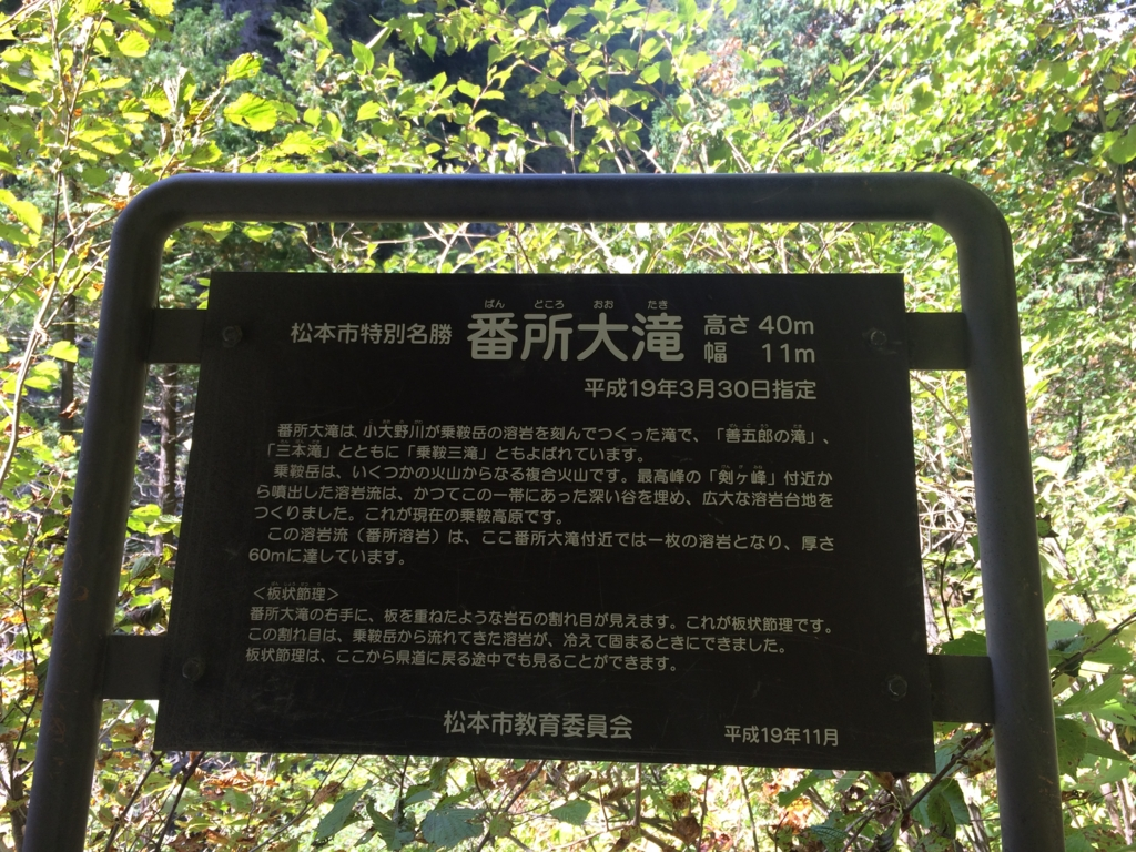 長野県、乗鞍高原の番所大滝