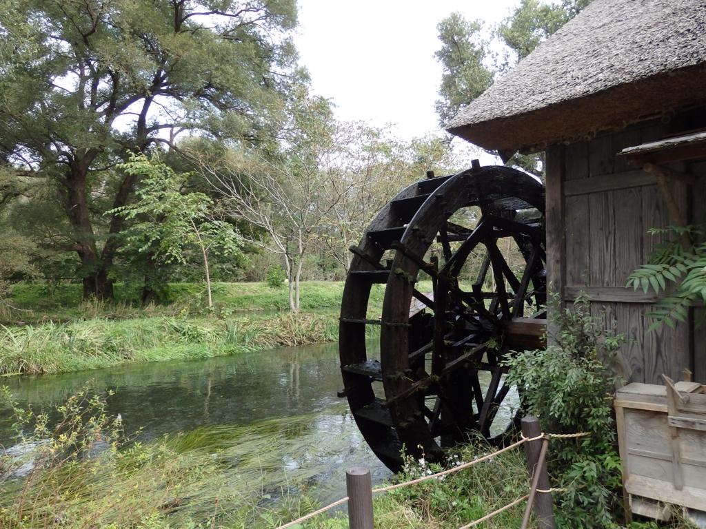 長野県安曇野・大王わさび農場の水車小屋