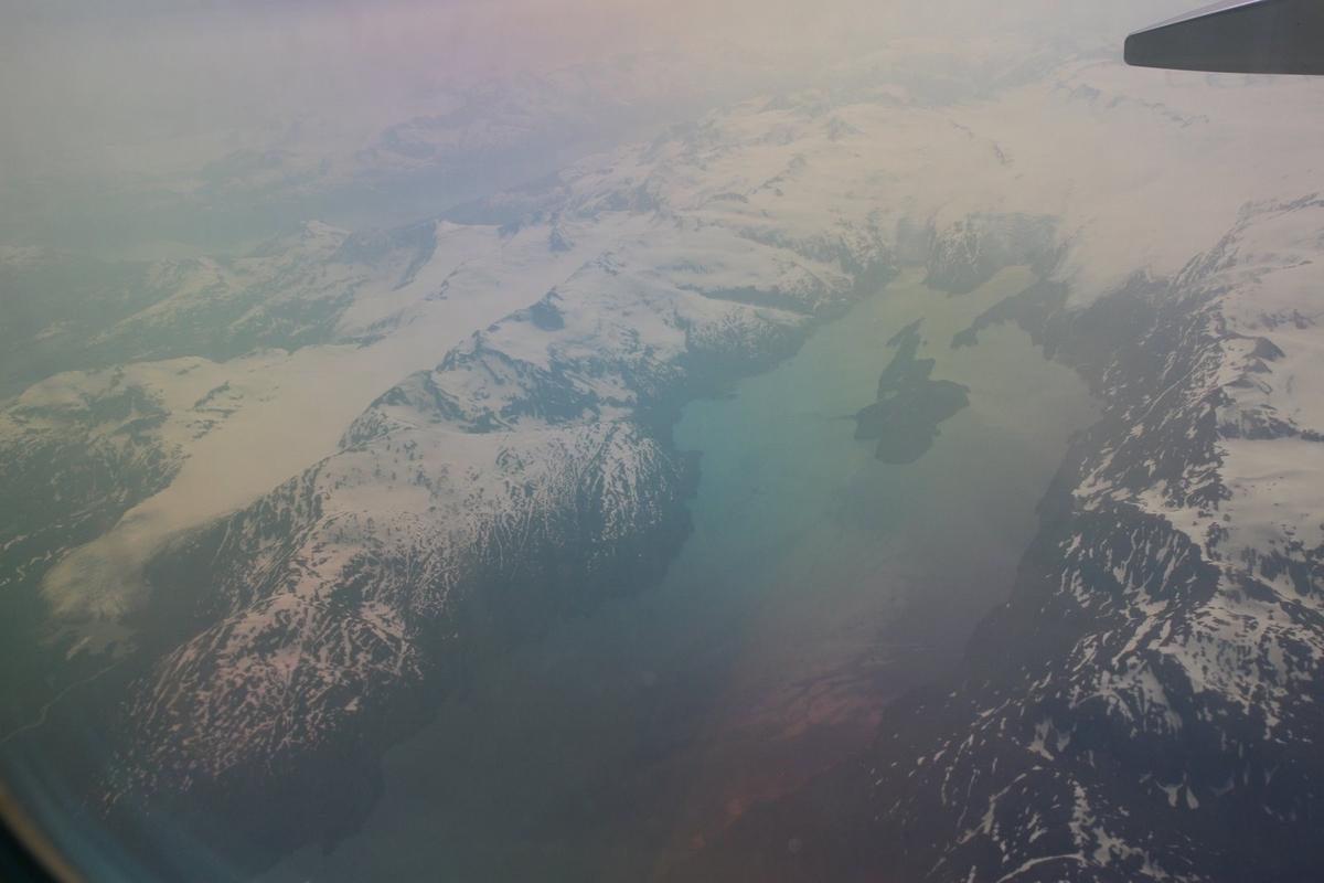 上空から見た氷河