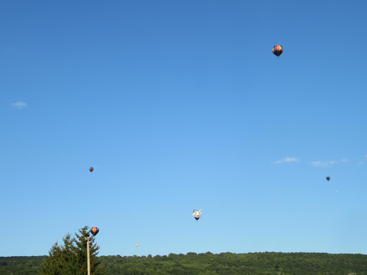 空を飛ぶ熱気球