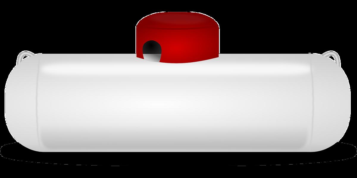 プロパンガスのタンク