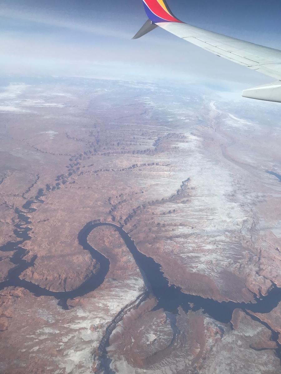 飛行機から見る景色