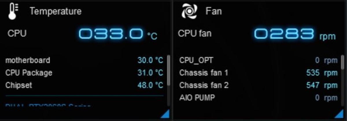 CPUファンは最小回転数の300rpmを割っているぞ……