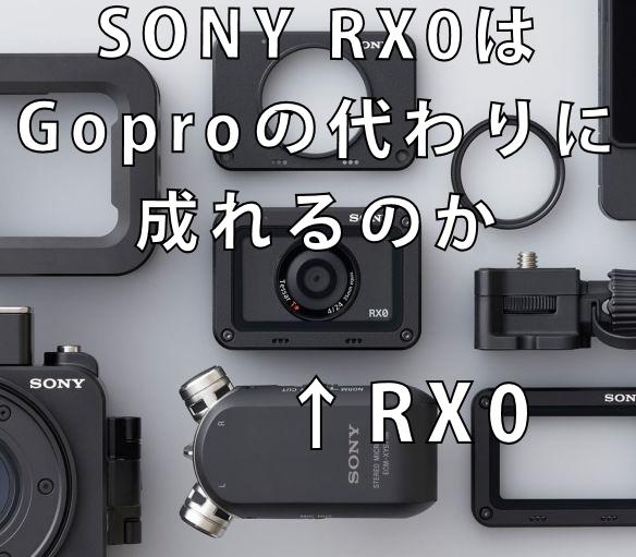 DSC-RX0 Gopro SONY Gopro アクションカム