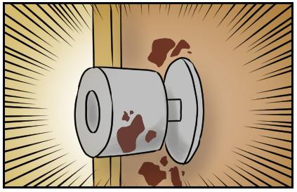 血まみれのドアノブ