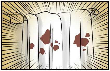 血まみれのタオル