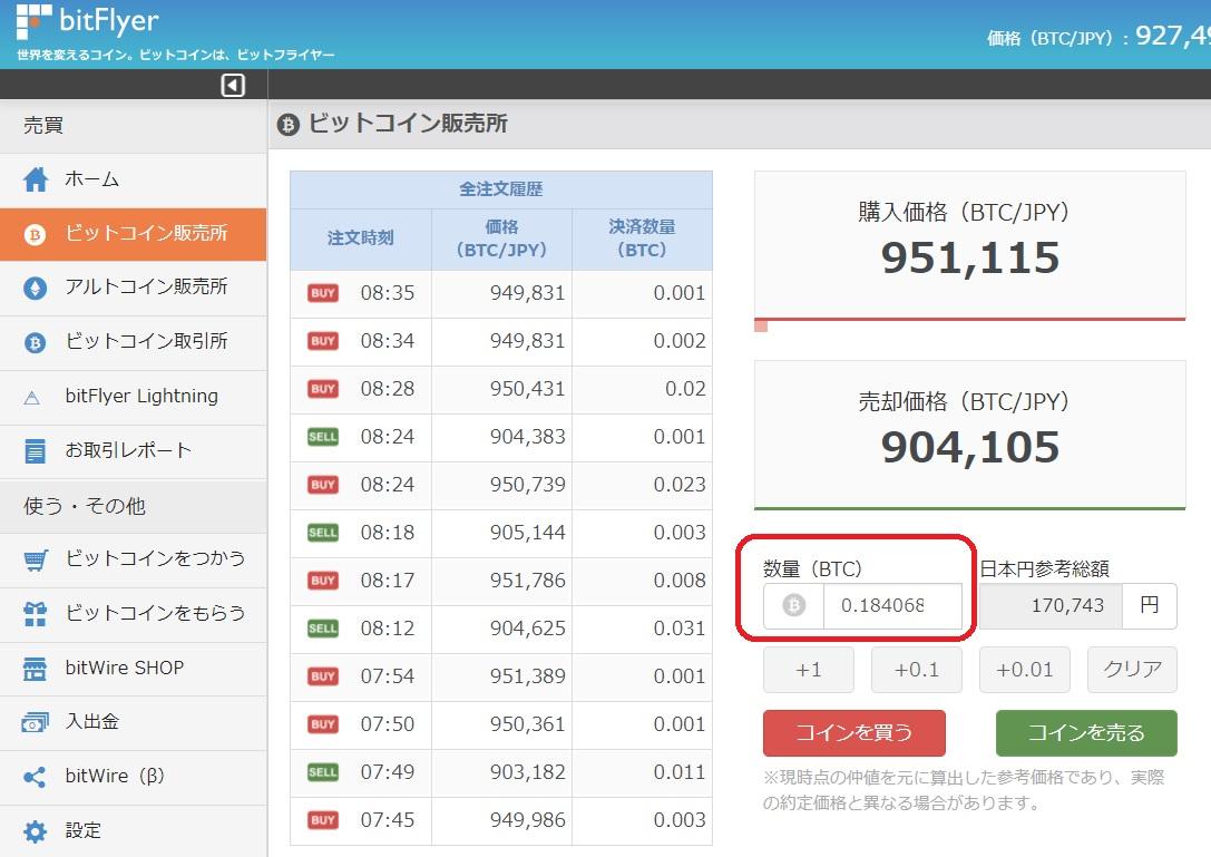 IBH銀行×TLC-bitFlyer BTC購入-