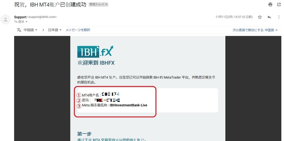 IBH銀行×TLC-MT4連携 ID/PASS-