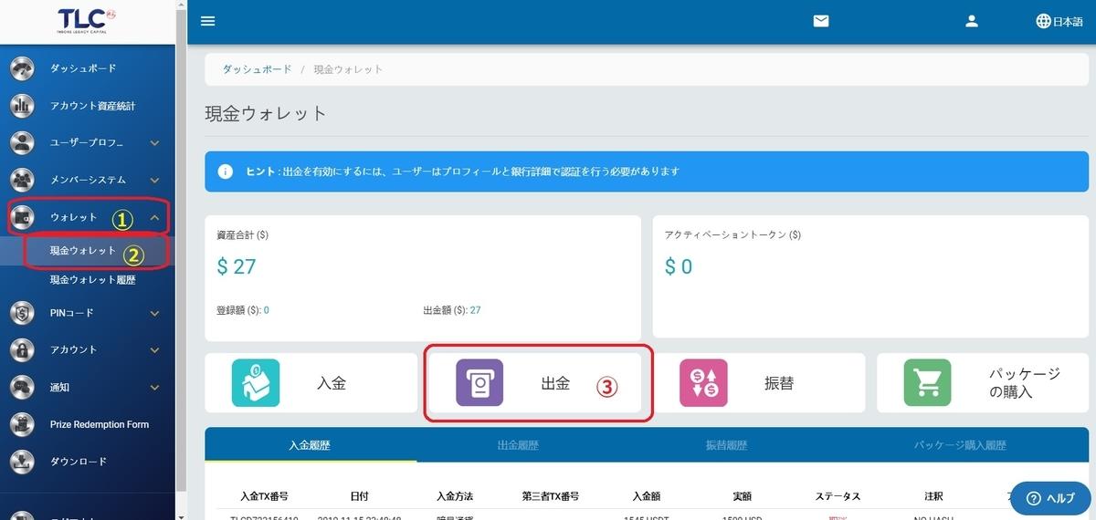 IBH銀行×TLC-出金申請1-