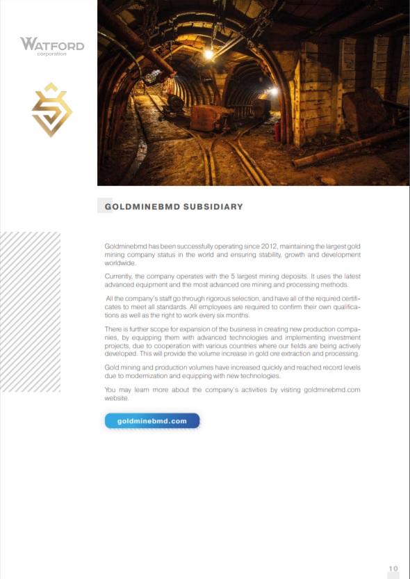 GoldmineBMD subsidiary