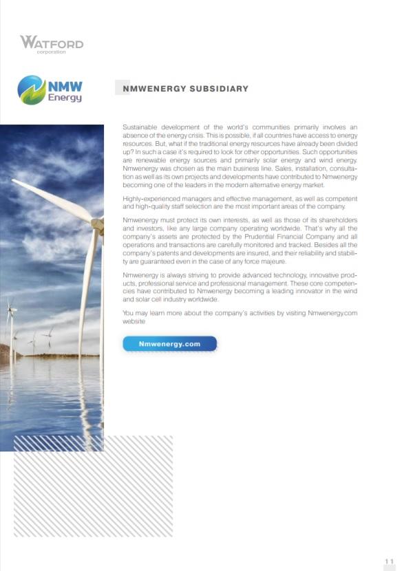 NMWenergy subsidiary