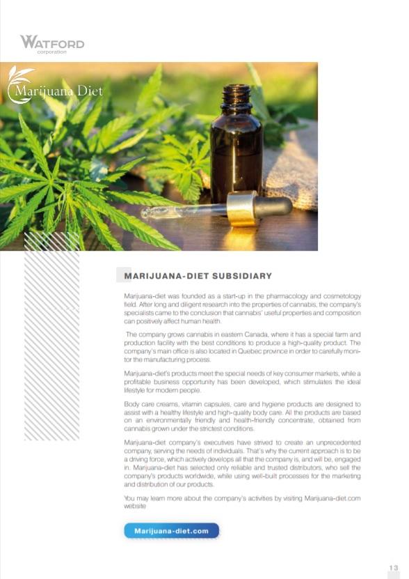 Marijuana-diet subsidiary