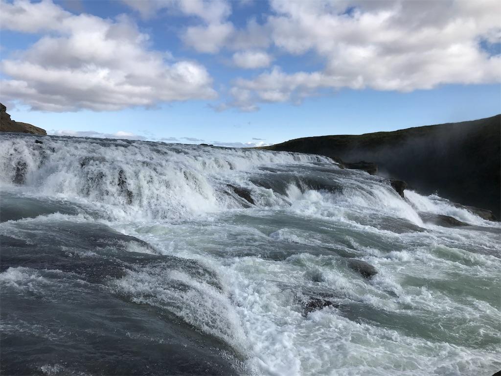 グトルフォス滝を至近から