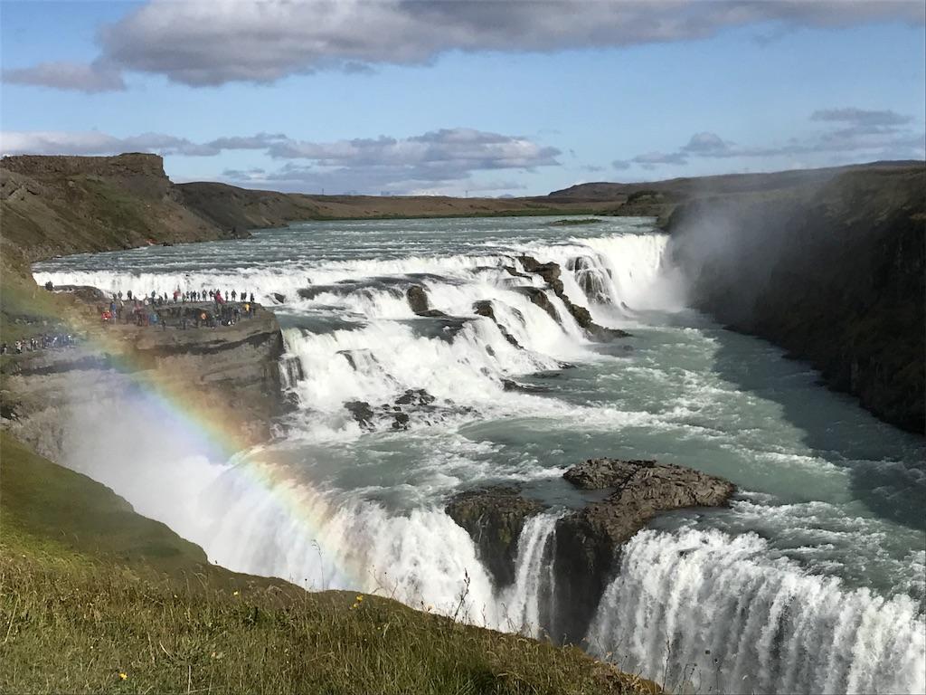 虹とグトルフォス滝