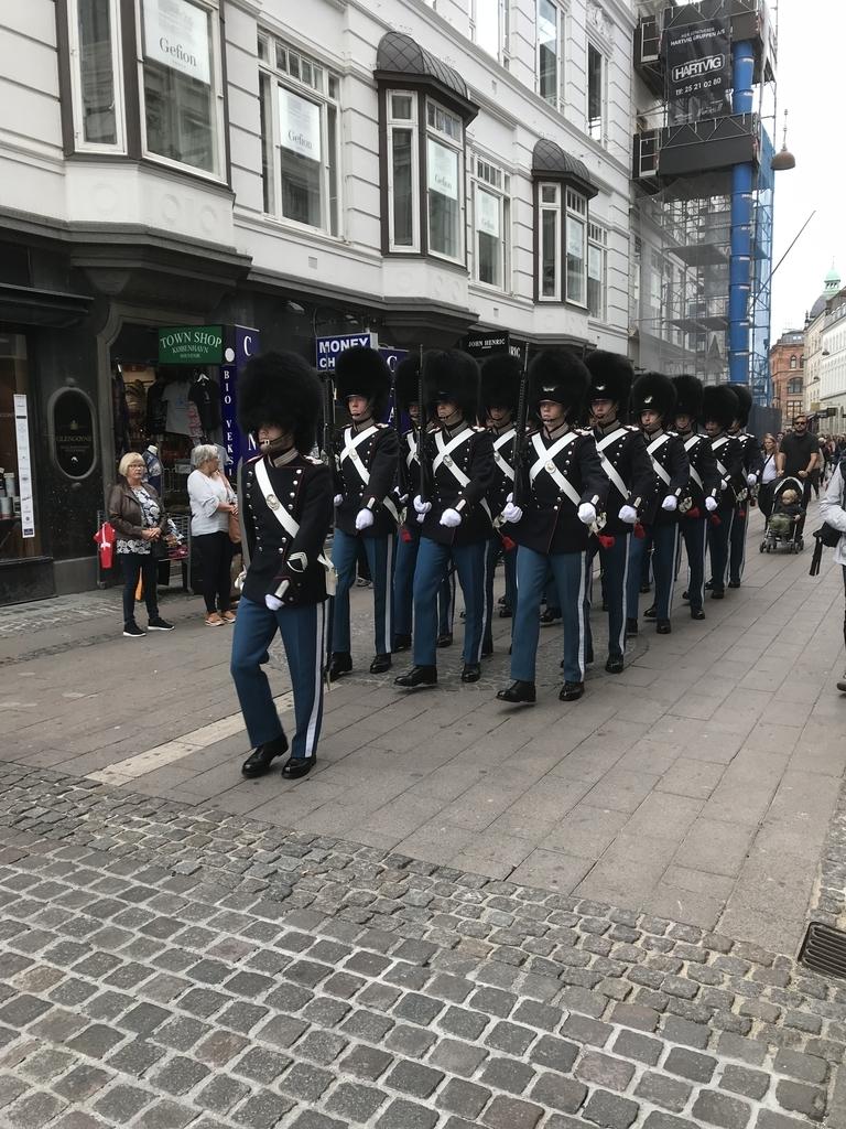 宮殿近衛兵の行進