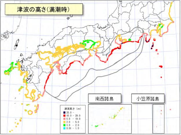 南海トラフ地震による津波