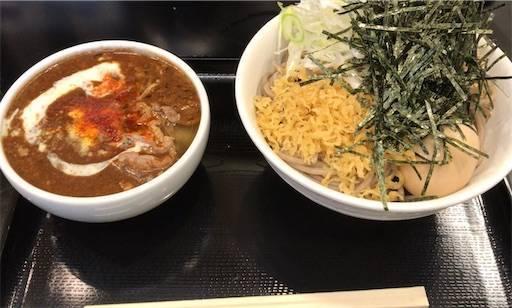 黒カレー肉そばe