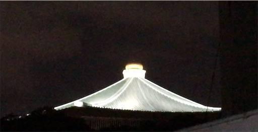 屋根の上に光る玉ねぎ