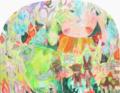 [パネル][綿布][アクリル][インク][水彩色鉛筆][変形パネルF50号] 怪物の心 -house-