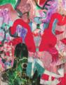 [パネル][アクリル][水彩色鉛筆][F50号] 怪物の心 -daija-