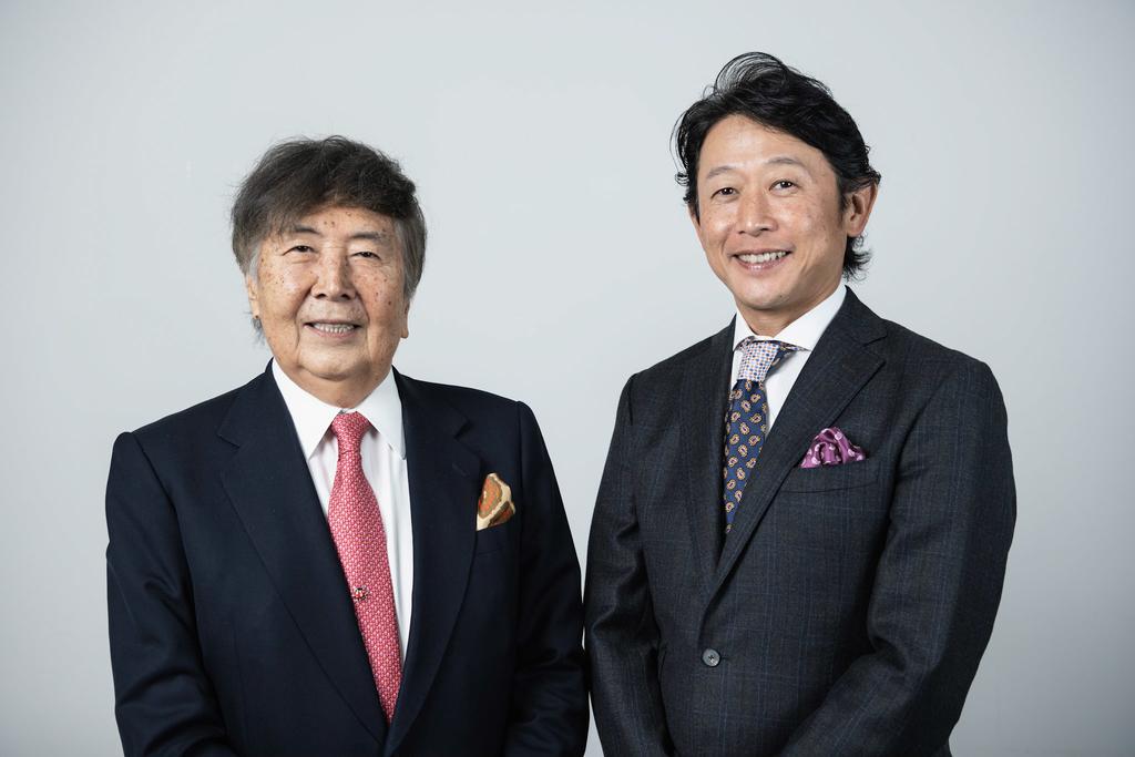 アルク創立者:平本 照麿(左)、代表取締役社長:田中 伸明(右)
